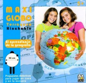 Globo mundo hinchable 50cm
